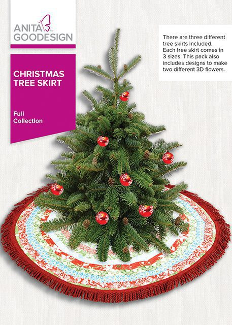 christmas tree skirt anita goodesign - Christmas Tree Skirts