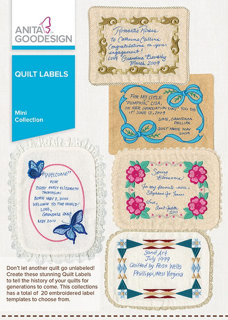 Embroidery Quilt Label Designs : Quilt Labels Anita Goodesign