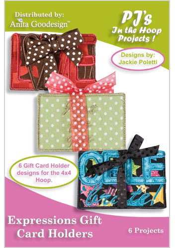 Pjs in the hoop expressions gift card holders anita goodesign reheart Images