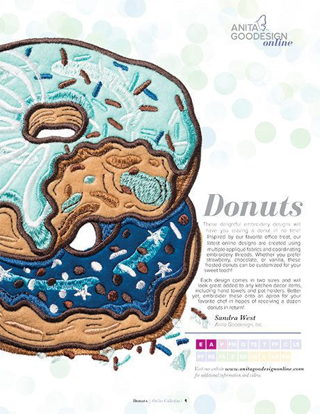 Donuts | Machine Embroidery Designs | Anita Goodesign