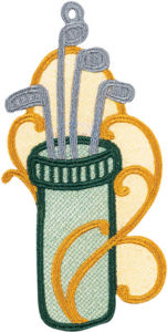 Sports Lace Ornaments - Golf Clubs