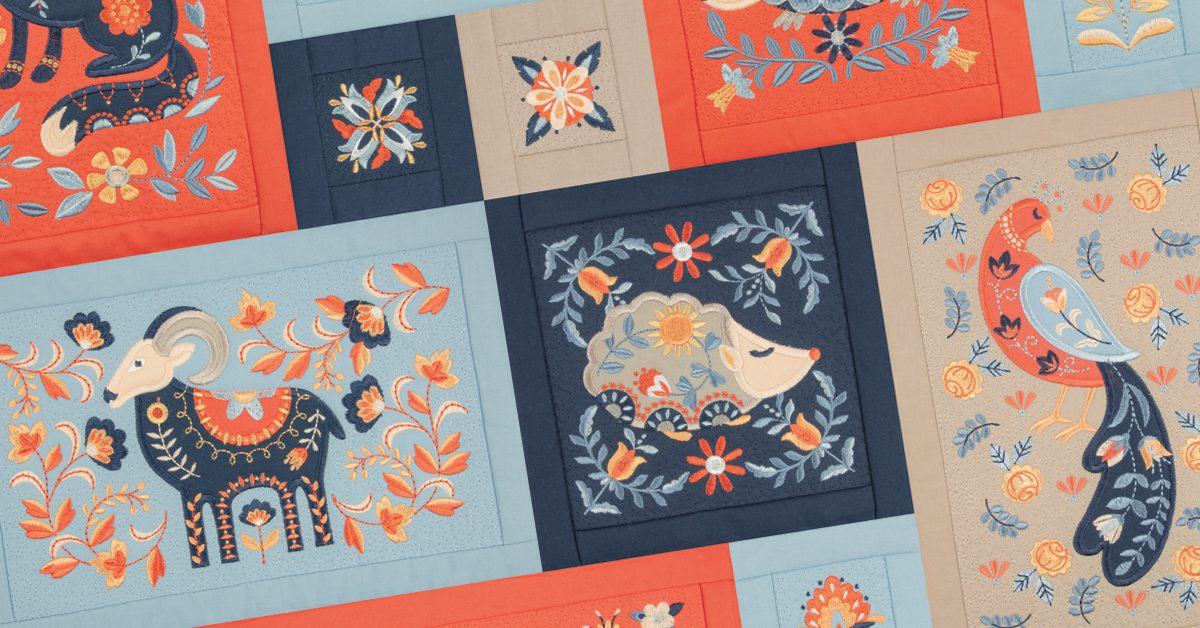 Folk Animals Quilt Folded Fabric Designs For Machine