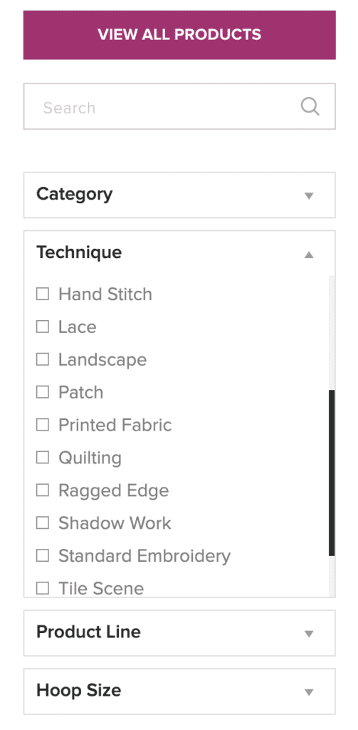 how to shop the website, filter techniques