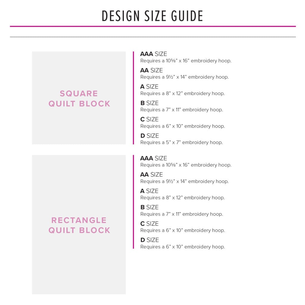 Design Size Guide