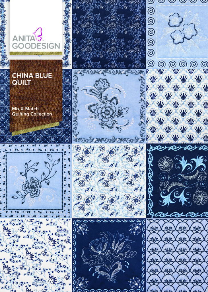 Anita Goodesign China Blue Quilt
