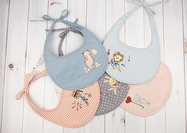Anita Goodesign Baby Bibs, Machine Embroidery Designs