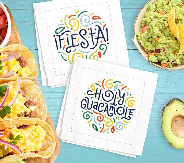 Anita Goodesign Fiesta Word Clouds Napkins