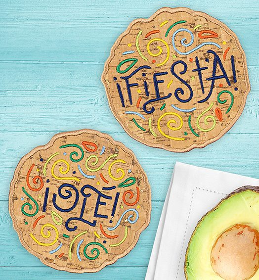 Anita Goodesign Fiesta Word Clouds Coasters