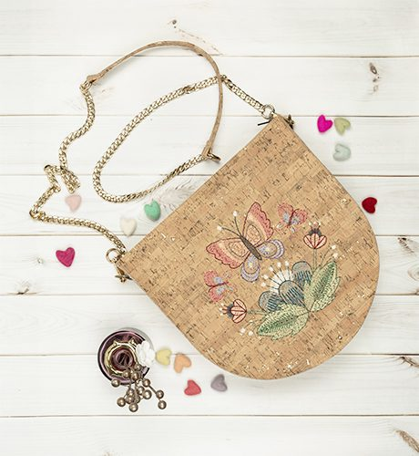Anita Goodesign Hand Stitched Cork Bags