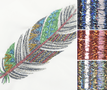 machine embroidery thread types, holographic