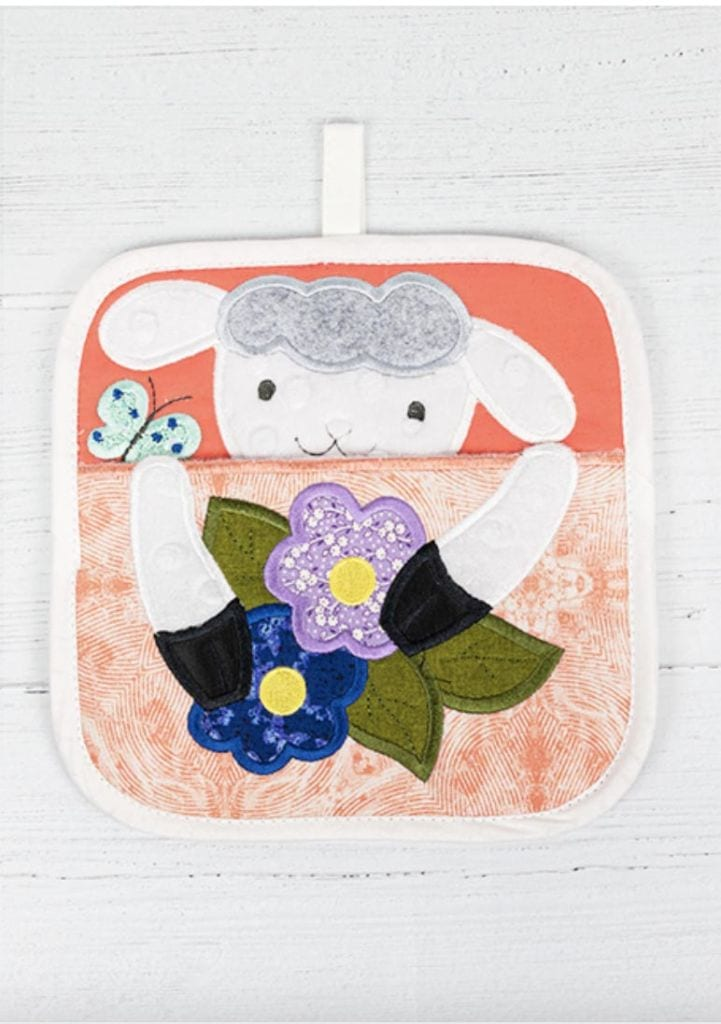 Anita Goodesign Holiday Gift Guide for Hostess Seasonal Peeking Pot Holders